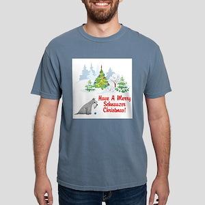FIN-christmas-schnauzer Mens Comfort Colors Sh
