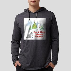 FIN-christmas-schnauzer Mens Hooded Shirt