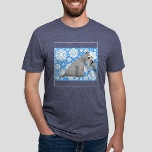FIN-holiday-schnauzer Mens Tri-blend T-Shirt