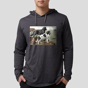 FIN-newfoundland-dog-portrait Mens Hooded Shir