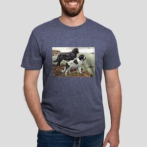 FIN-newfoundland-dog-portrait Mens Tri-blend T