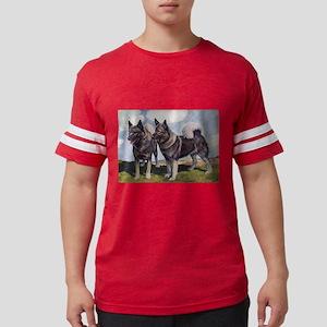 FIN-norwegian-elkhound-watercolor Mens Footbal