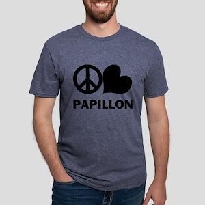 FIN-peace-love-papillon Mens Tri-blend T-Shirt