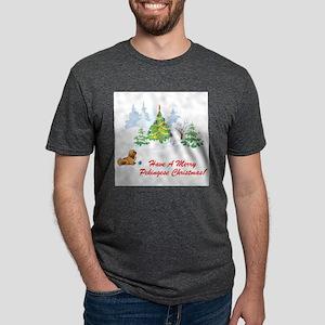 FIN-merry-pekingese-christmas Mens Tri-blend T