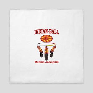 INDIAN-BALL: Runnin'-n-Gunnin' Queen Duvet