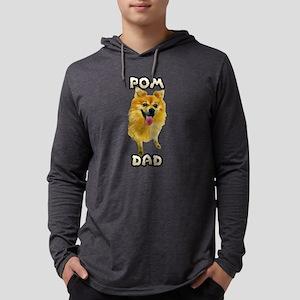 Pomeranian Dad Mens Hooded Shirt