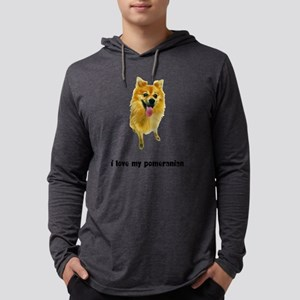 FIN-pomeranian-love Mens Hooded Shirt