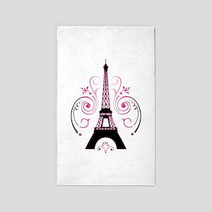 Eiffel Tower Gradient Swirl 3'x5' Area Rug