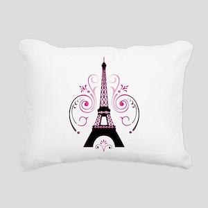 Eiffel Tower Gradient Sw Rectangular Canvas Pillow
