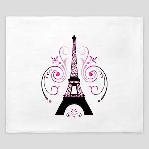 Eiffel Tower Gradient Swirl King Duvet