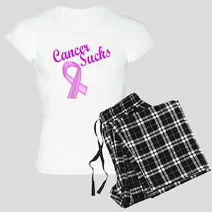 Cancer Sucks Pink Ribbon Women's Light Pajamas