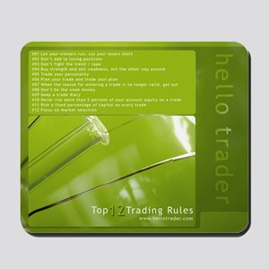 Top 12 Trading Rules Mousepad