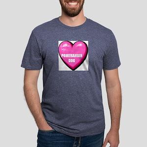 pomeranian-dog-FIN Mens Tri-blend T-Shirt