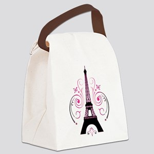 Eiffel Tower Gradient Swirl Canvas Lunch Bag