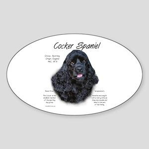Cocker Spaniel (black) Sticker (Oval)