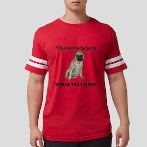 Personalized Pug Dog Mens Football Shirt