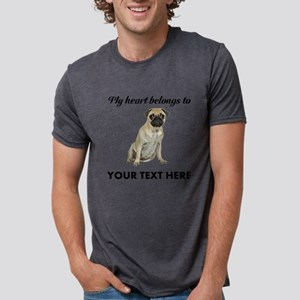 Personalized Pug Dog Mens Tri-blend T-Shirt