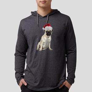 FIN-santa-pug-fawn-CROP Mens Hooded Shirt