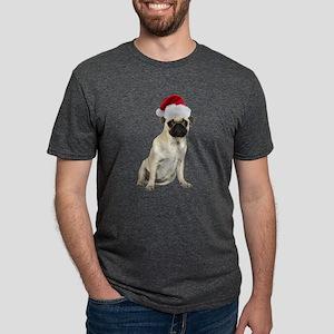 FIN-santa-pug-fawn-CROP Mens Tri-blend T-Shirt