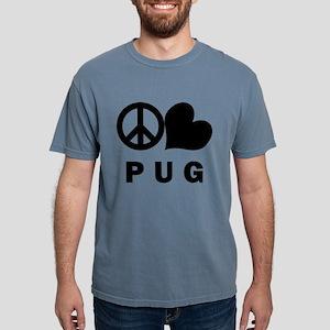 FIN-peace-love-pug Mens Comfort Colors Shirt