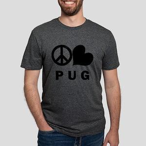FIN-peace-love-pug Mens Tri-blend T-Shirt