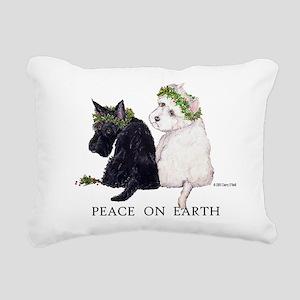 Peace 4x3 png Rectangular Canvas Pillow