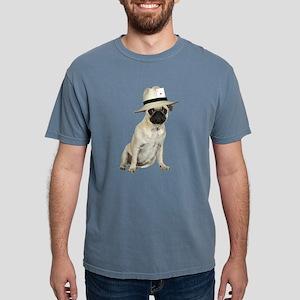FIN-poker-pug-fawn Mens Comfort Colors Shirt