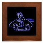 Kokopelli Race Car Driver Framed Tile