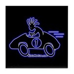 Kokopelli Race Car Driver Tile Coaster