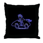Kokopelli Race Car Driver Throw Pillow