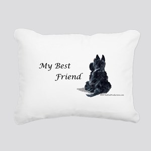 Best Friend 11x11 Rectangular Canvas Pillow