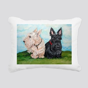Scottish Terrier Compani Rectangular Canvas Pillow