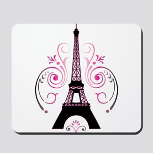 Eiffel Tower Gradient Swirl Mousepad