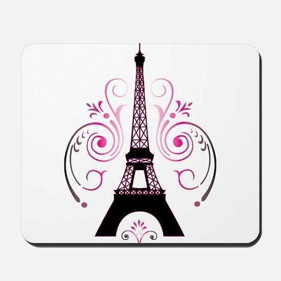 Eiffel Tower Gradient Swirl Mousepad