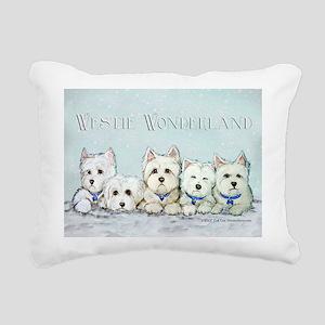 1 wonderland 11x11 Rectangular Canvas Pillow