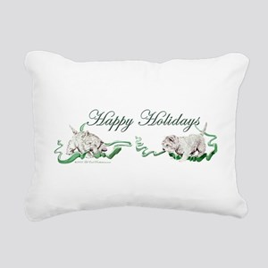 1 Happy Holidays Westies Rectangular Canvas Pi