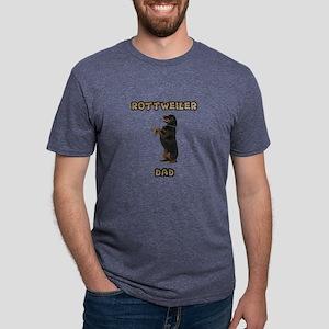 Rottweiler Dad Mens Tri-blend T-Shirt