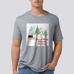 FIN-rottweiler-christmas Mens Tri-blend T-Shir