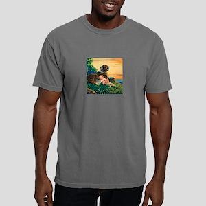 Saint Bernard Art Mens Comfort Colors Shirt