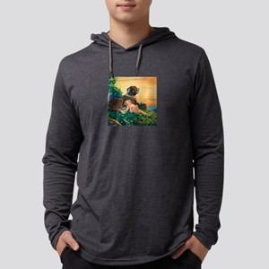 Saint Bernard Art Mens Hooded Shirt