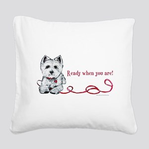 Ready Square Canvas Pillow