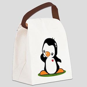 Cute Penguin Popo (!) Canvas Lunch Bag