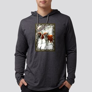 Saint Bernard Dogs Mens Hooded Shirt