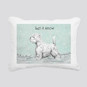 Let it snow 10x10 Rectangular Canvas Pillow