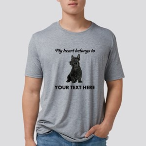 Personalized Scottish Terrier Mens Tri-blend T-Shi