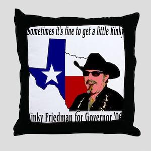 Texas Governor '06 Throw Pillow