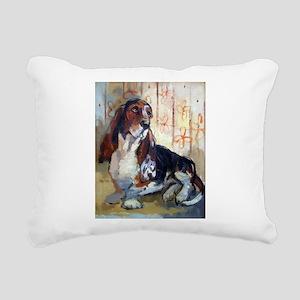 Basset 11x13 Rectangular Canvas Pillow