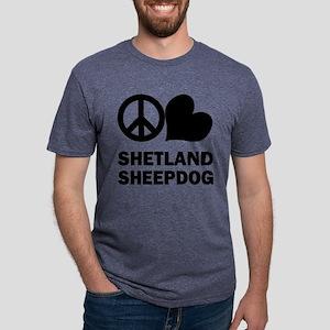 FIN-peace-love-shetland-sheepdog Mens Tri-blen