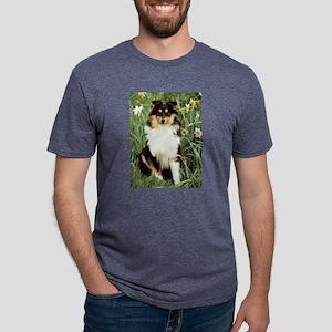 FIN-sheltie-photo-PRINT Mens Tri-blend T-Shirt