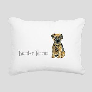 Border Terrier white mug Rectangular Canvas Pi